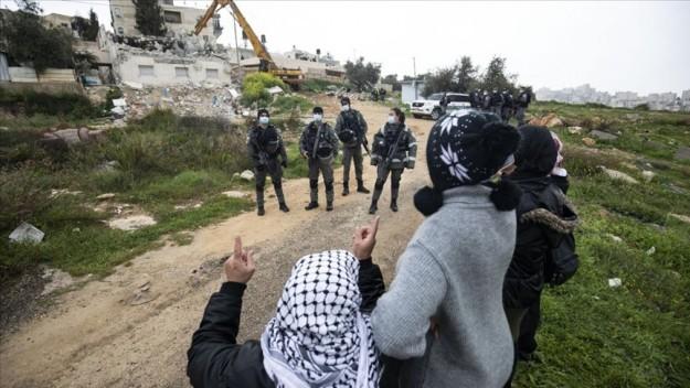 İsrail güçleri Kudüs'te engelli bir Filistinlinin evini 6'ncı kez yıktı