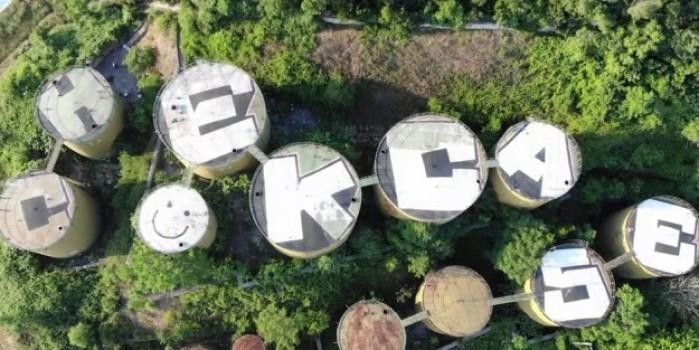 İstanbul'un uydudan görülen ilk grafitisi havadan görüntülendi