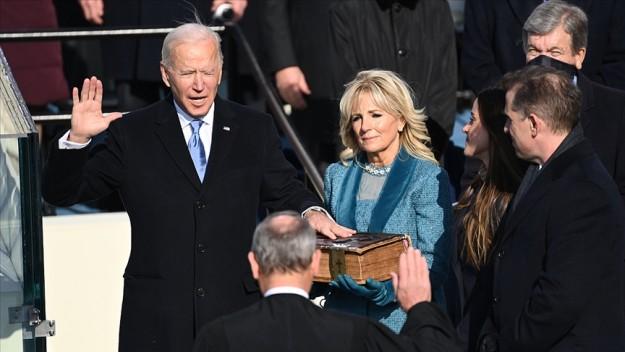 Joe Biden, yemin ederek ABD'nin 46'ncı başkanı oldu