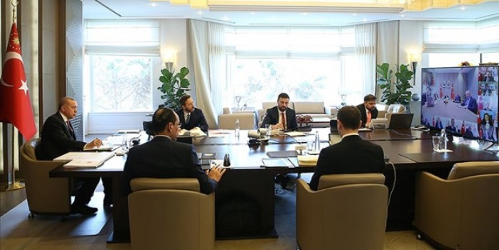 Kabine toplantısı ilk kez video konferans yöntemiyle gerçekleşiyor