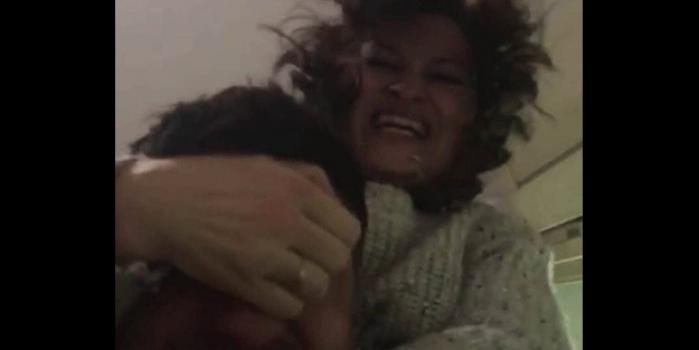 Kadın kocasının gözlerini oymaya çalıştı! O anları kamera ile kayıt altına aldı