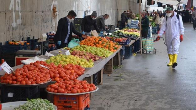Kahramanmaraş'ta 65 yaş üstü vatandaşların pazar yerine girişleri kısıtlandı