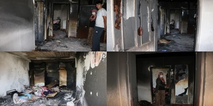 Klimanın bomba gibi patladığı ev harabeye döndü