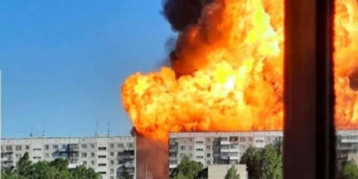 Korku dolu anlar! Akaryakıt istasyonu böyle patladı