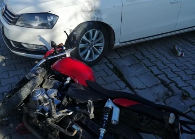Korkunç kaza böyle görüntülendi! Metrelerce havaya uçtu
