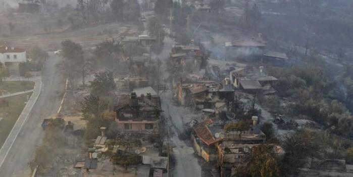 Manavgat'taki korkunç tablo havadan görüntülendi