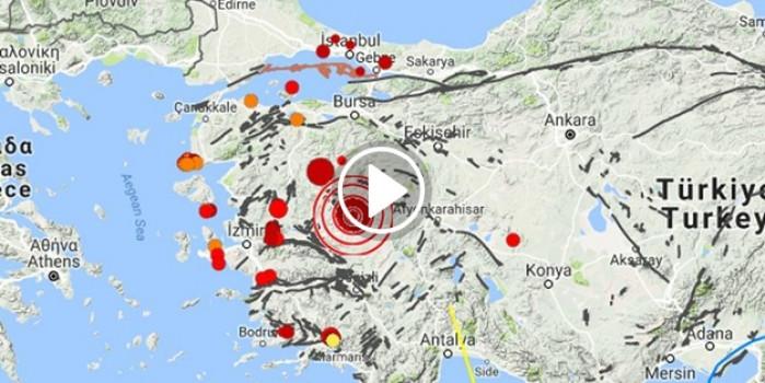Manisa'daki deprem anı kamerada