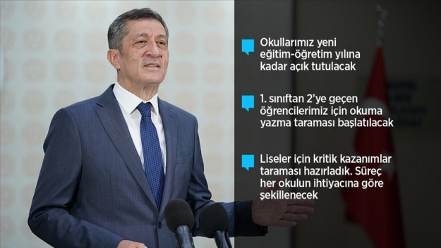 Milli Eğitim Bakanı Selçuk: Okullarımız yeni eğitim-öğretim yılına kadar öğrencilerimiz için açık tutulacak