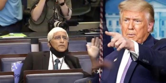 Muhabirin o sorusu üzerine Trump'ın nutku tutuldu!