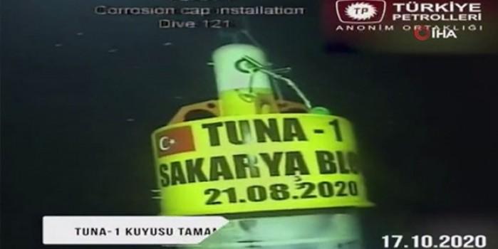 Müjdeyi Cumhurbaşkanı Erdoğan vermişti... TP, Tuna-1 kuyusunun sondaj görüntülerini paylaştı