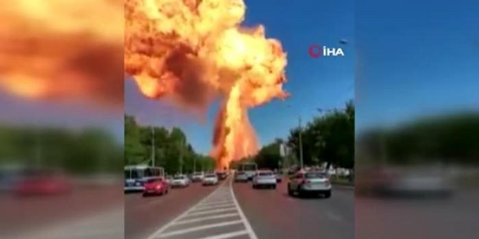 Müthiş patlama... Ortalık savaş alanına döndü