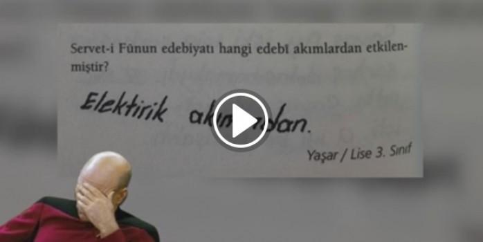 Öğrencilerin komik sınav cevapları