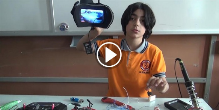 """Ortaokul öğrencisi """"bomba bulan casus drone"""" tasarladı"""
