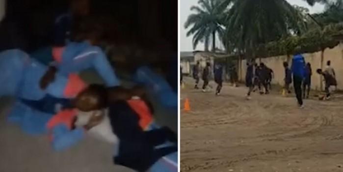 Otelden atılan milli takım futbolcuları kaldırımda uyudu! Skandal görüntülere tepki yağdı