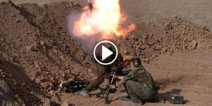 Peşmergeyle birlikte çatışan Amerikan askeri görüntülendi