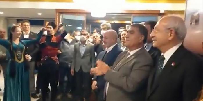 PKK yandaşlarıyla ittifak yapan Kılıçdaroğlu'na 'Mustafa Kemal Paşa'lı karşılama