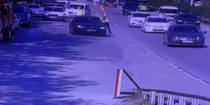 Polisi sürükleyerek kaçan kişi bakın kim çıktı!