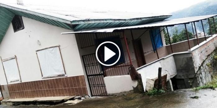 Rize'de 7 ev heyelan tehlikesi sebebiyle boşaltıldı