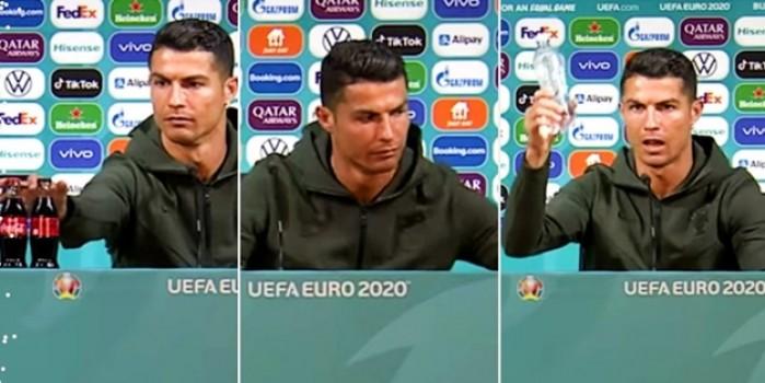 Ronaldo, Coca Cola'ya büyük darbe indirdi! Bakın ne kadar zararı var