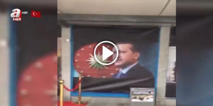 Rotterdam'da Erdoğan düşmanlığı! Posterler kaldırıldı