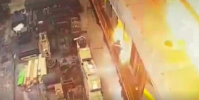 Rusya'da tren vagonundaki patlama saniye saniye görüntülendi