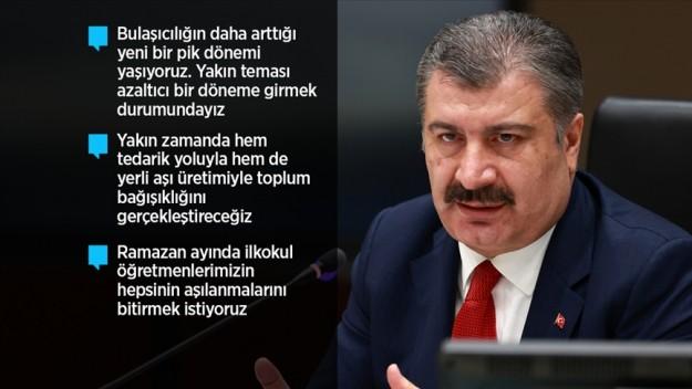 Sağlık Bakanı Koca: Kabine Toplantısı'nda kapsayıcı, alternatifli önerileri sunacağız