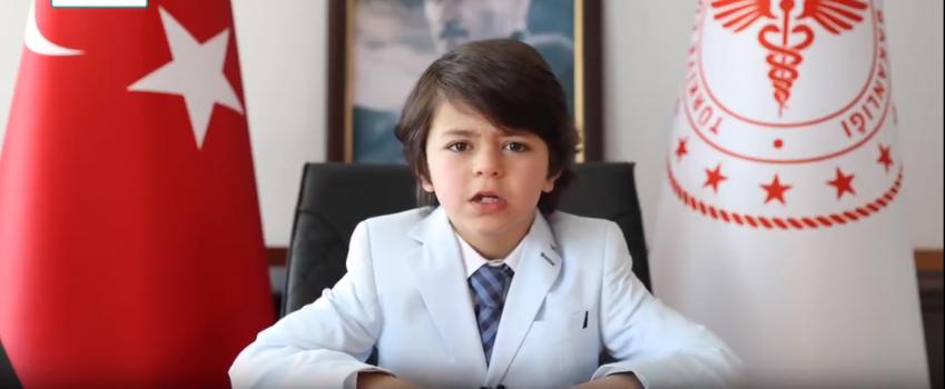 Sağlık Bakanı Koca'nın bir günlüğüne koltuğunu devrettiği çocuktan flaş çağrı