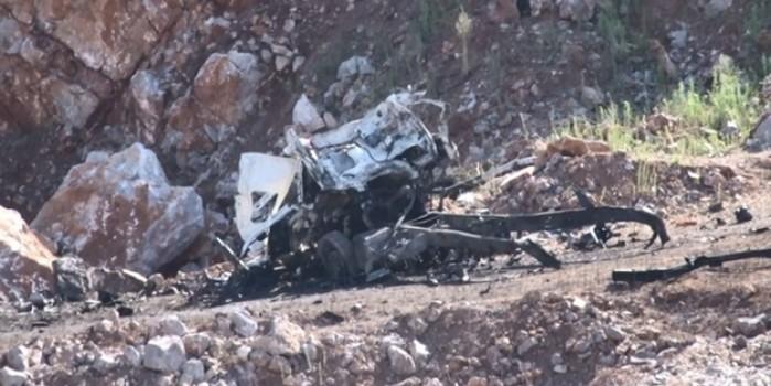 Sakarya'da 3 askerin şehit düştüğü patlama bölgesi görüntülendi