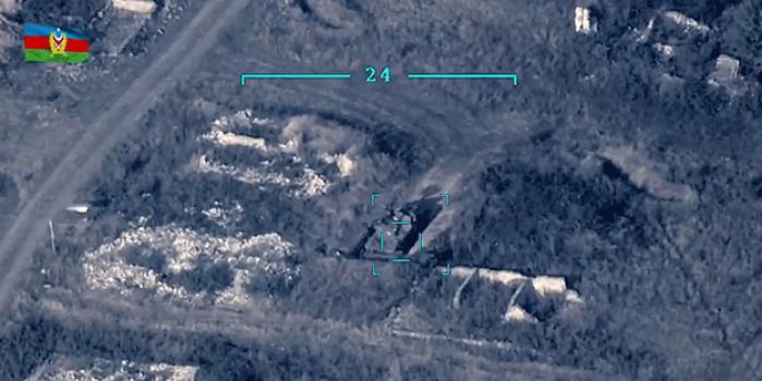 SİHA desteği Türkiye'den! Azerbaycan ordusu Ermeni hedeflerini böyle vurdu
