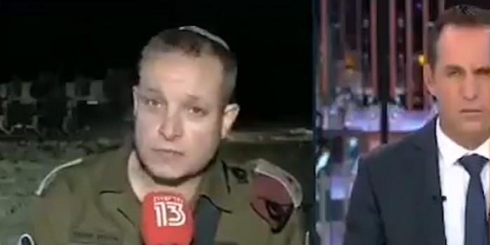 Sireni duyan siyonist komutan mikrofonu bırakıp kaçtı