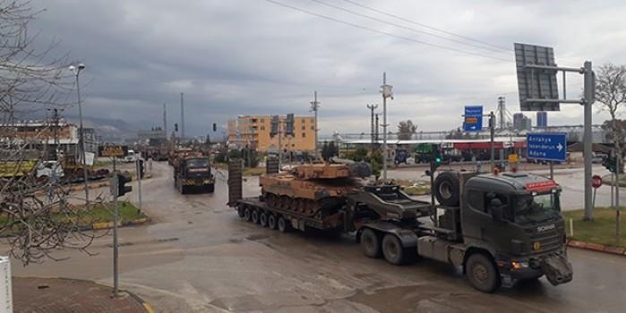 Suriye sınırına zırhlı araç takviyesi