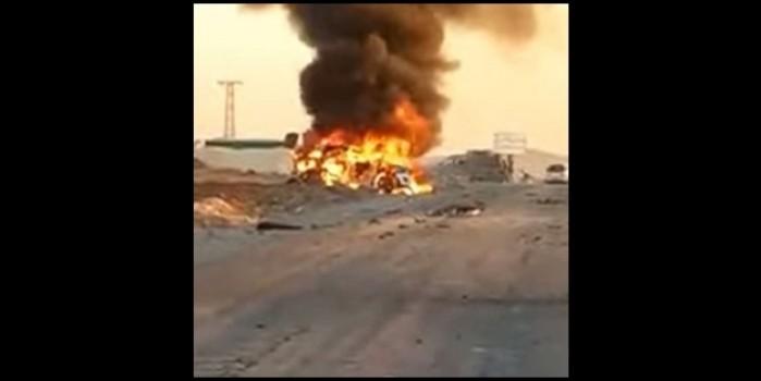 Suriye'de Türk SİHA'larından operasyon! Araçtaki teröristlerin hepsi havaya uçuruldu