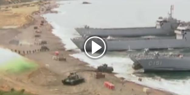 TSK denizden çıkarma yaptı
