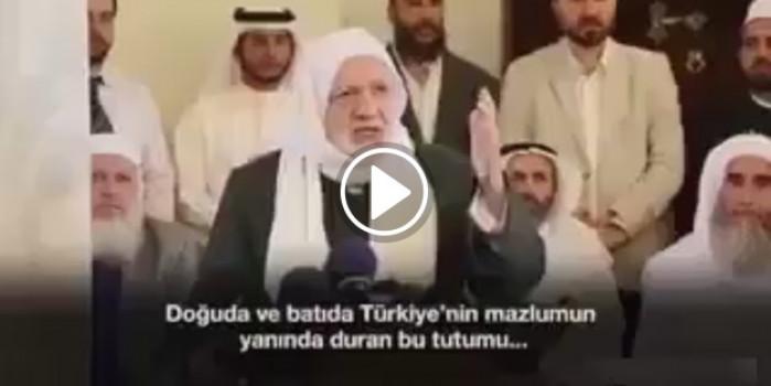 Tüm dünya Müslümanlarının duası Erdoğan ve Türkiye ile..