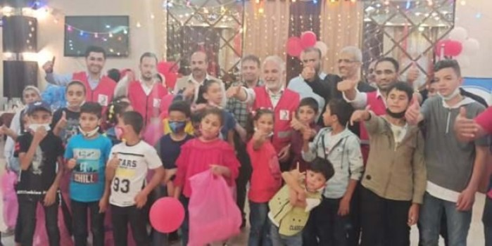 Türk Kızılayı Gazze'deki yetimlerin yüzünü güldürdü