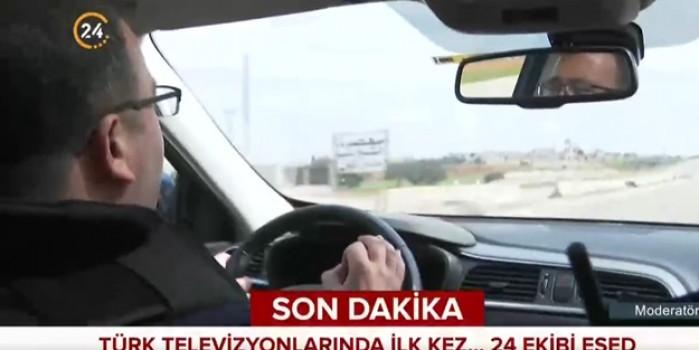 Türk muhabir çekim yaparken Esed'in uçakları bomba yağdırdı