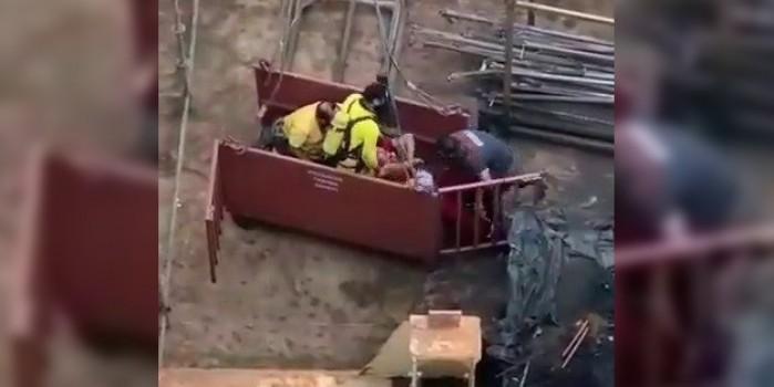Tuzla'da bir işçi elektrik akımına kapıldı! Dehşet anları böyle görüntülendi