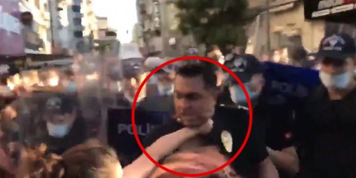 Vahşilik! İstanbul Sözleşmesi için toplanan kadınlar polisi öldürmeye kalktı
