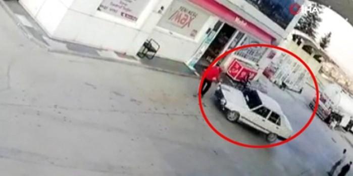 Veresiye vermeyen akaryakıt istasyonu görevlisini otomobiliyle ezdi
