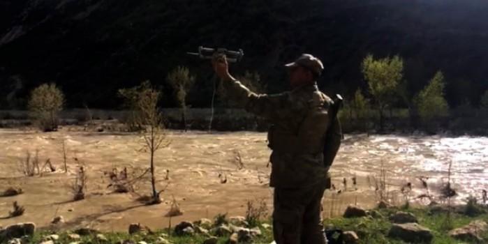 Yaşlı kadına ilaçları drone'la ulaştırıldı