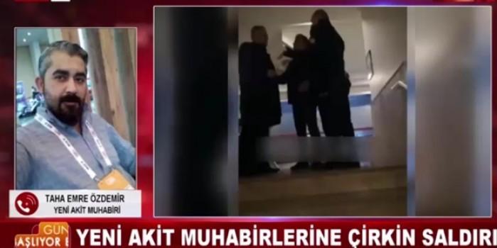 Muhabirlerimize saldıran AK Partili Hakkı Köylü'ye Akit TV ekranlarında ayar!