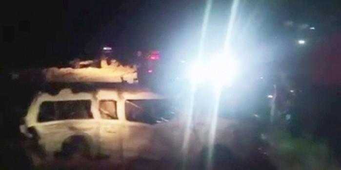 Yolcu minibüsü alev topuna döndü: 13 ölü